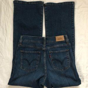 Levi's 512 Bootcut Jeans Sz 8 Short